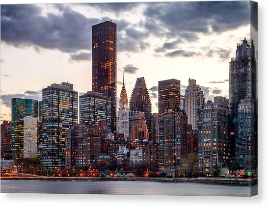 Chrysler Building Canvas Print - Surrounded By The City by Az Jackson