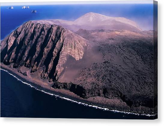Surtsey In Iceland Canvas Print