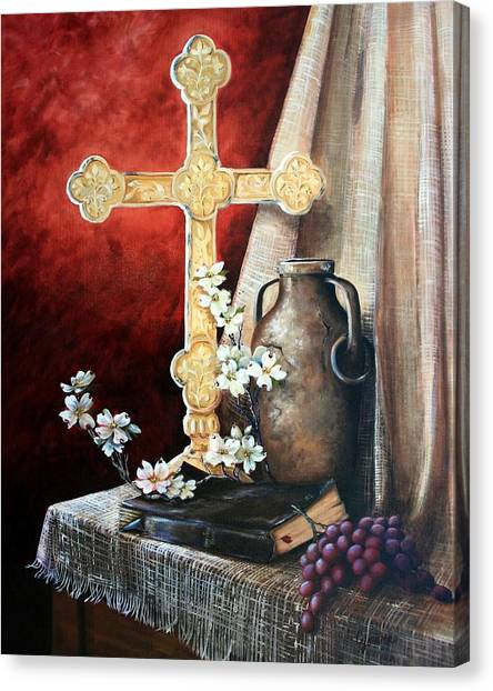 Survey The Wonderous Cross Canvas Print