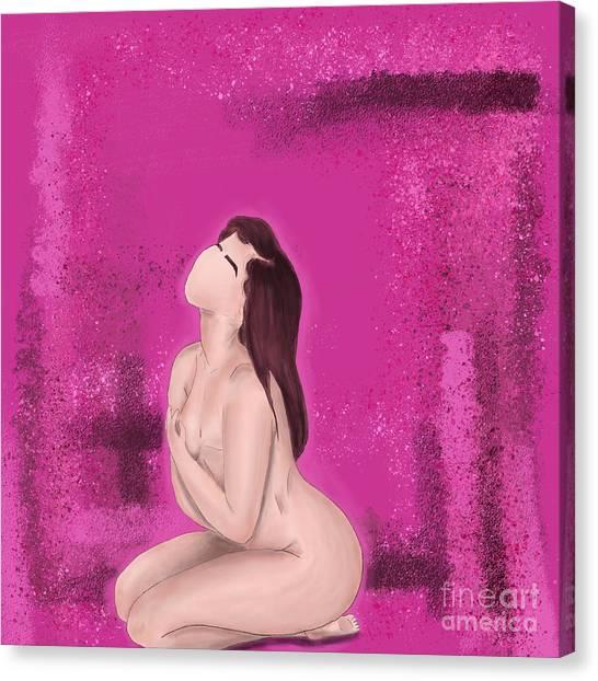 Canvas Print featuring the digital art Survivor by Bria Elyce