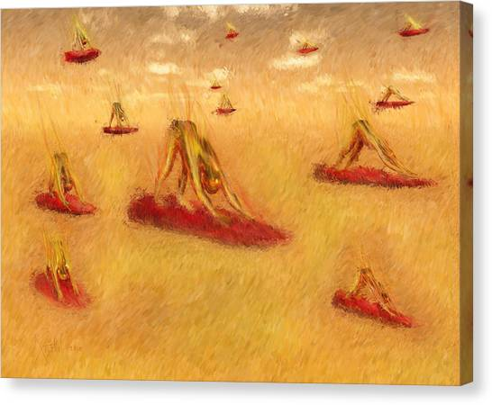 Surya Namaskar 4 Canvas Print by Dhakshina Sevak