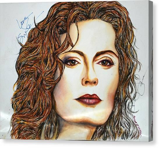 Susan Sarandon Canvas Print by Joseph Lawrence Vasile