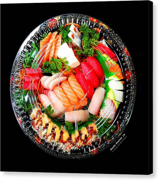 Canvas Print featuring the photograph Sushi Platter 19 by Brian Gryphon