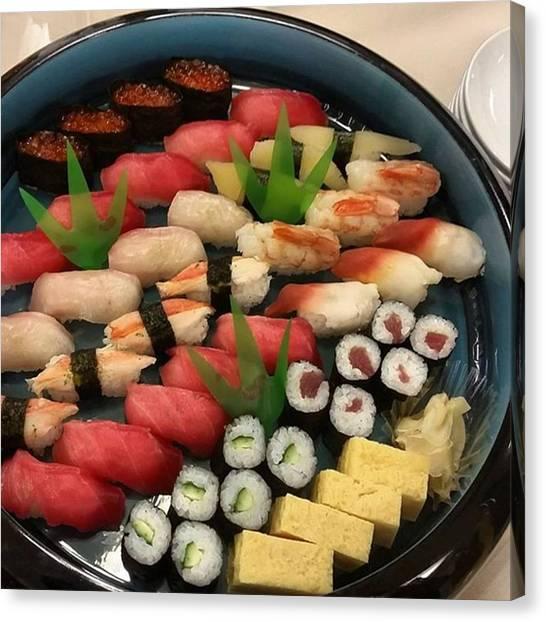 Pumpkins Canvas Print - Sushi Platter #sushi #gourmet #food by Lady Pumpkin