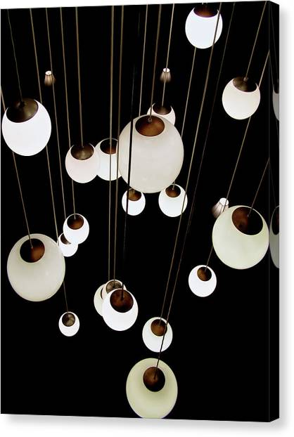 Suspended - Balls Of Light Art Print Canvas Print
