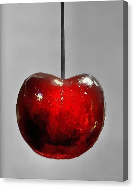 Suspended Cherry Canvas Print