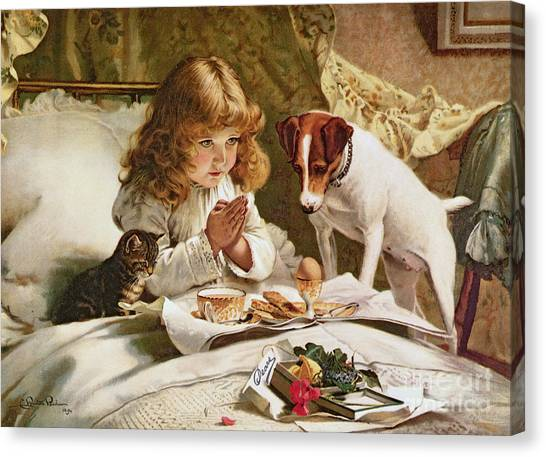 Girl Canvas Print - Suspense by Charles Burton