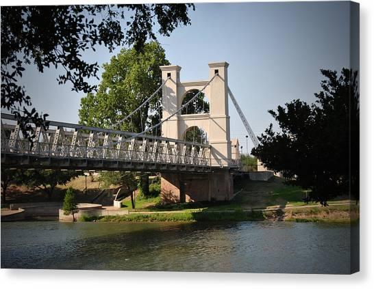 Suspension Bridge-waco Texas Canvas Print