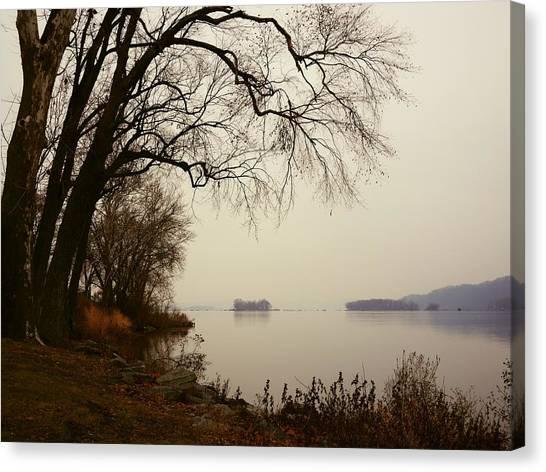 Canvas Print featuring the photograph Susquehanna River Near Veterans Memorial Bridge by Dutch Bieber