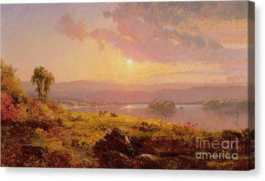 1900 Canvas Print - Susquehanna River by Jasper Francis Cropsey