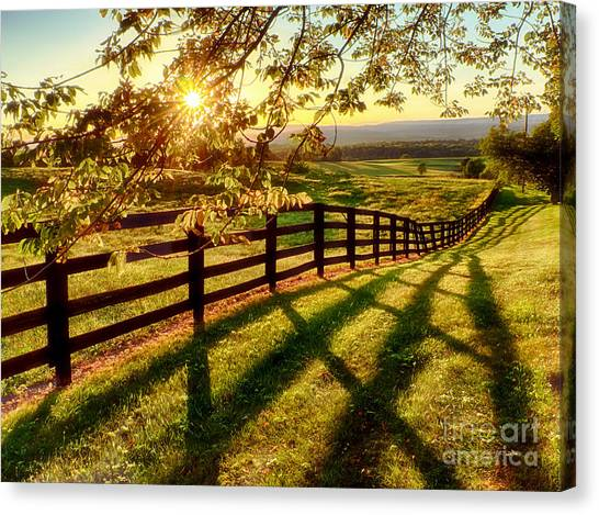 Sussex County Sunset Canvas Print