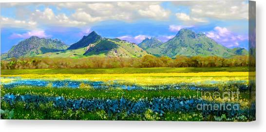 Sutter Buttes In Spring Canvas Print