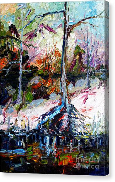 Okefenokee Canvas Print - Suwanee River Black Waters Modern Art by Ginette Callaway
