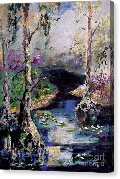 Suwannee River Black Water Magic Canvas Print