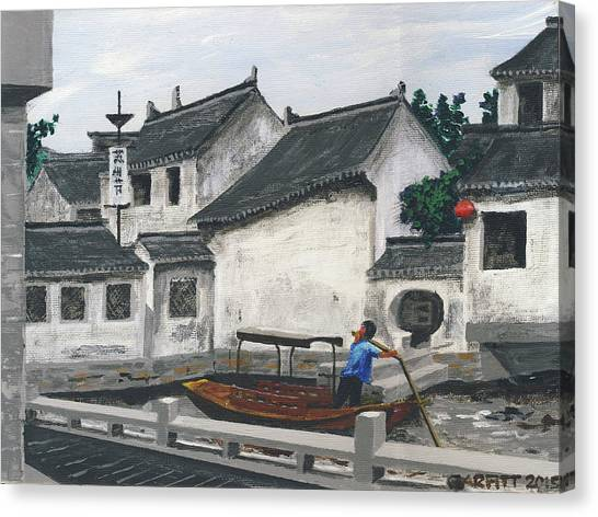 Suzhou Boatman Canvas Print