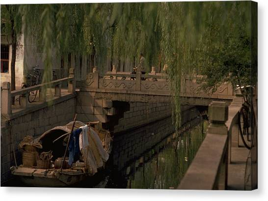 Travelpics Canvas Print - Suzhou Canals by Travel Pics