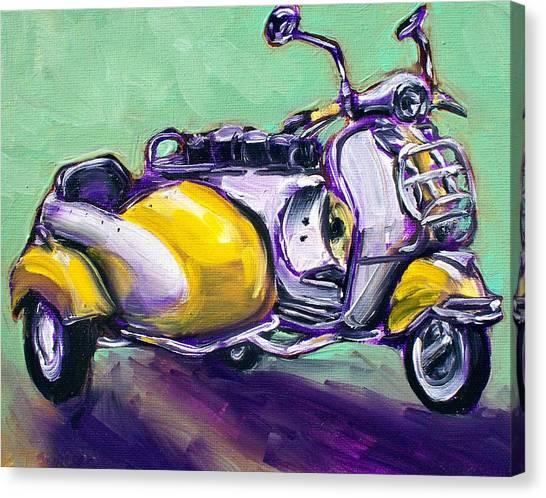 Suzie Sidecar Canvas Print by Sheila Tajima