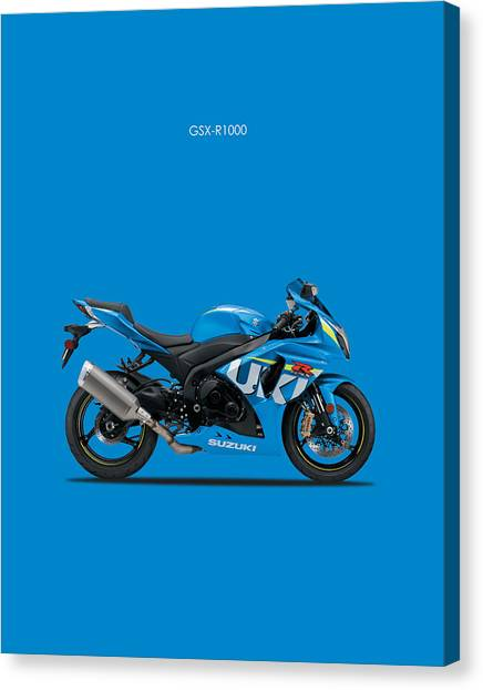 Suzuki Canvas Print - Suzuki Gsx R1000 by Mark Rogan