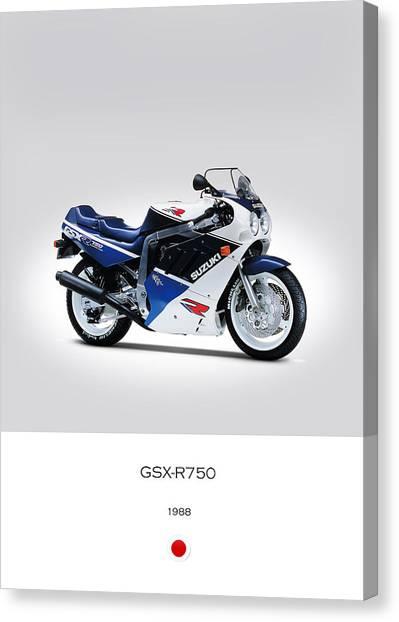 Suzuki Canvas Print - Suzuki Gsx-r750 1988 by Mark Rogan
