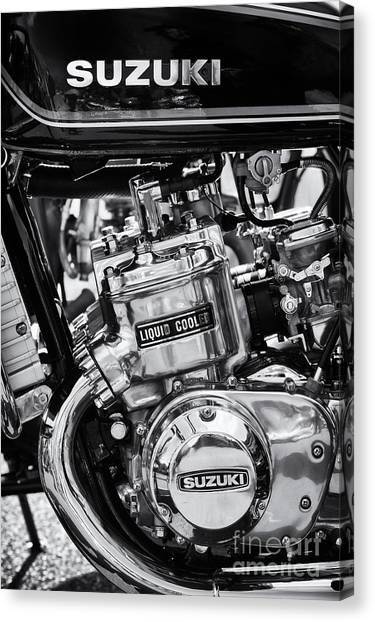 Suzuki Canvas Print - Suzuki Gt750 Monochrome by Tim Gainey