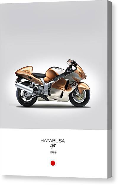 Suzuki Canvas Print - Suzuki Hayabusa 1999 by Mark Rogan