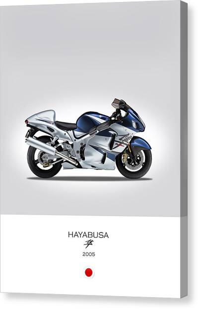Suzuki Canvas Print - Suzuki Hayabusa 2005 by Mark Rogan