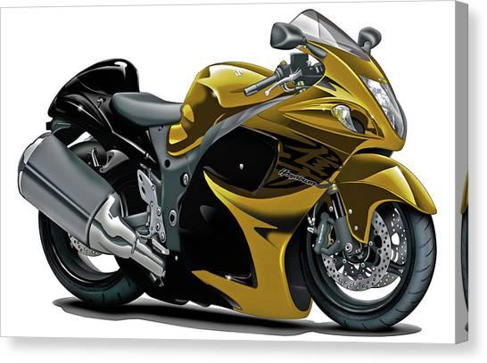 Suzuki Canvas Print - Suzuki Hayabusa Gold Bike by Maddmax