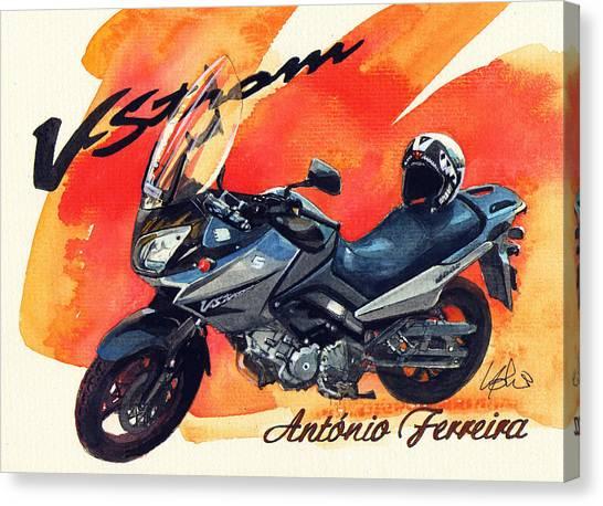 Suzuki Canvas Print - Suzuki Strom 650 by Yoshiharu Miyakawa