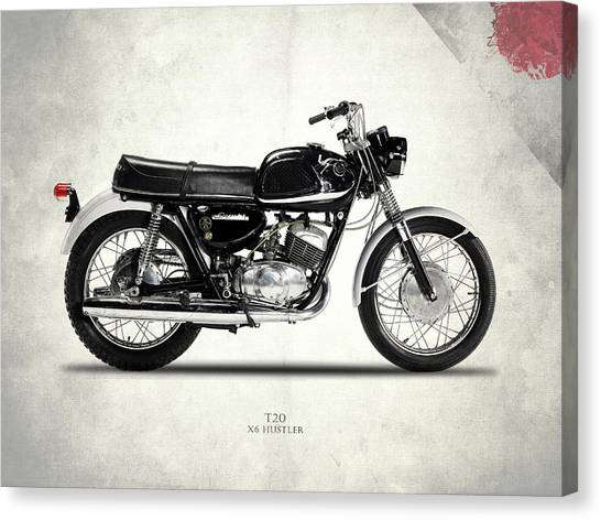 Suzuki Canvas Print - Suzuki T20 - X6 Hustler by Mark Rogan