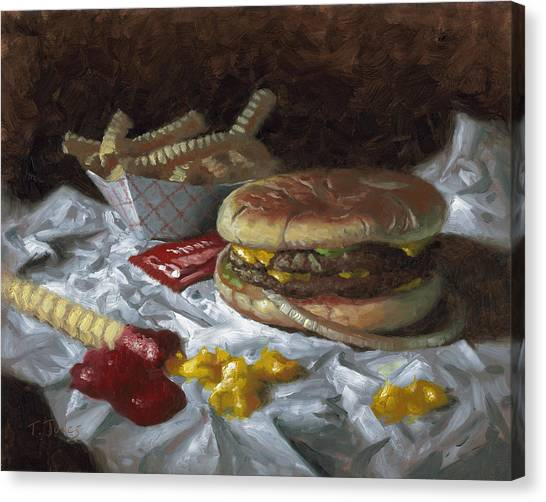 Suzy-q Double Cheeseburger Canvas Print by Timothy Jones