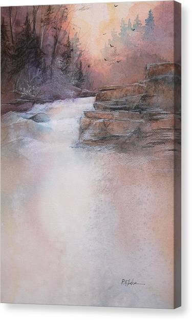 Swallow Canvas Print - Swallow Falls by Robert Yonke