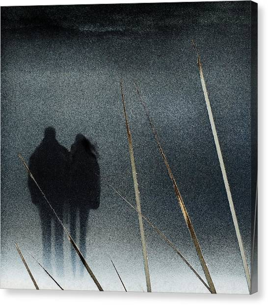 Couple Canvas Print - Swallowed By The Winter by Piet Flour