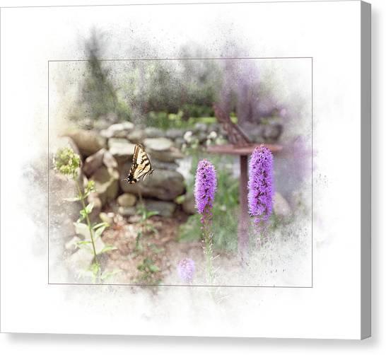 Canvas Print featuring the digital art Swallowtail by Sue Collura