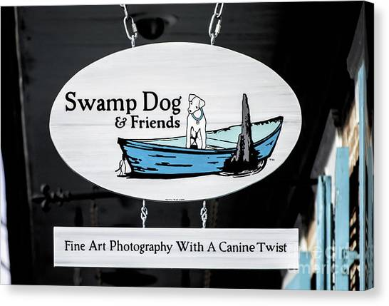 Swamp Dog And Friends Canvas Print