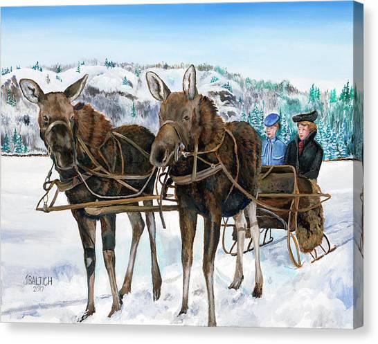 Swamp Donkies Canvas Print