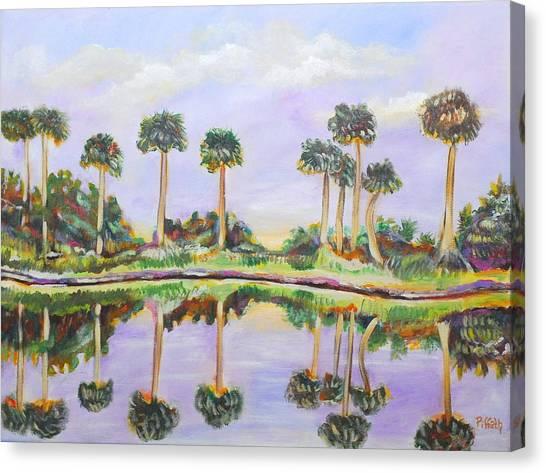 Swamp Palms Canvas Print