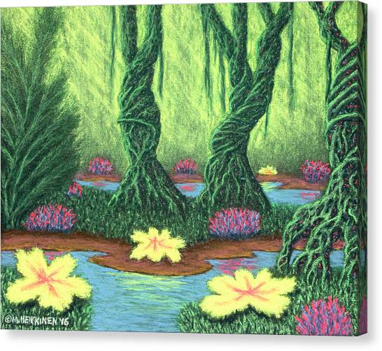 Swamp Things 02, Diptych Panel A Canvas Print