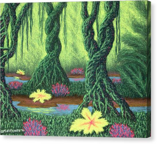 Swamp Things 02, Diptych Panel B Canvas Print