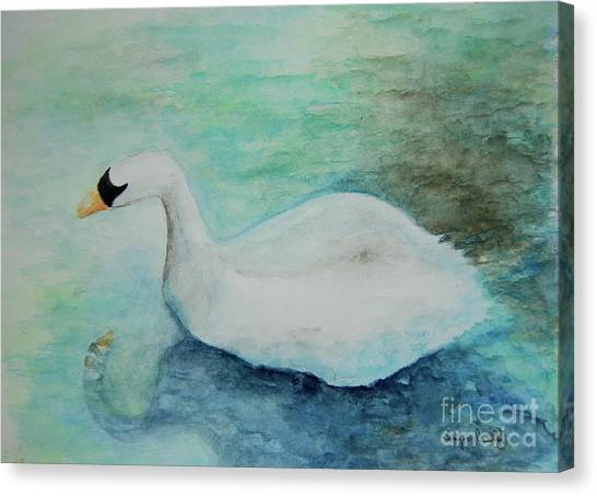 Swan Flight Canvas Print