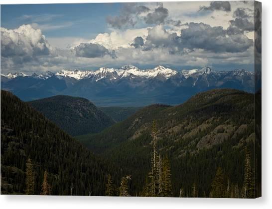 Swan Mountain Range Canvas Print
