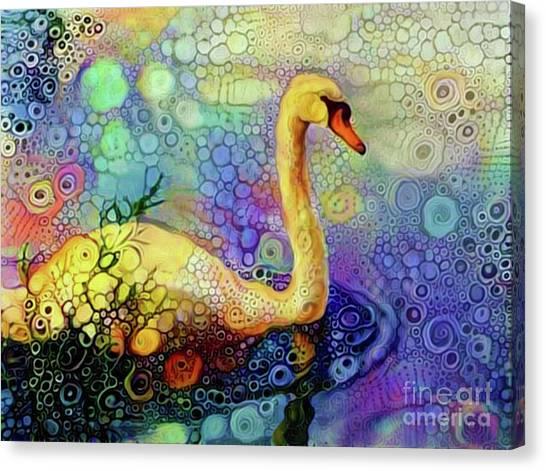 Swan Spectacular Oil Canvas Print
