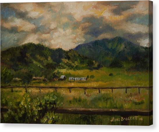 Swan Valley Hillside Canvas Print