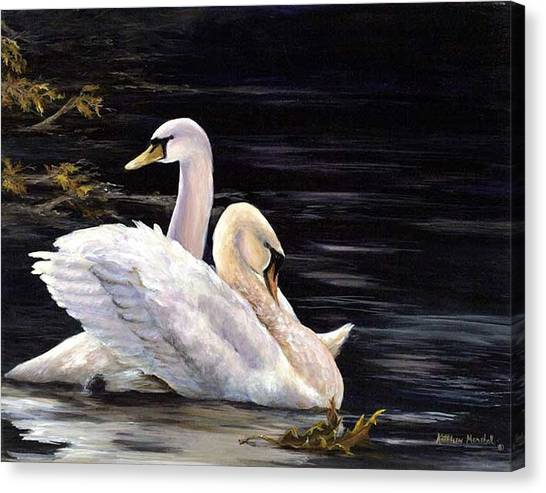 Swansong Canvas Print by Kathleen Marshall McConnell