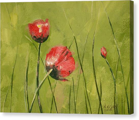 Swaying Poppies Canvas Print