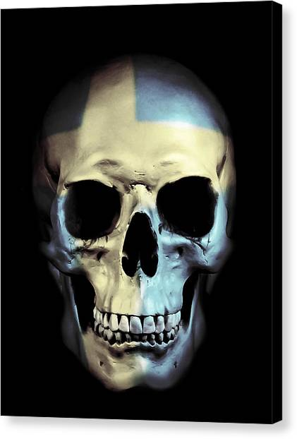 Skulls Canvas Print - Swedish Skull by Nicklas Gustafsson