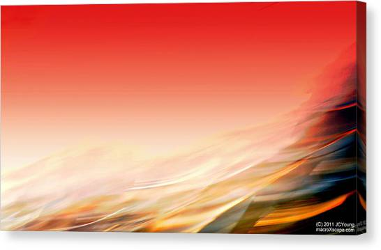 Sweeping Heat Canvas Print by JCYoung MacroXscape