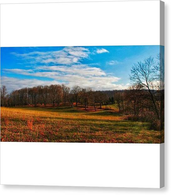 Appalachian Mountains Canvas Print - Sweeping Vista  #autumn #fall #field by Blake Butler