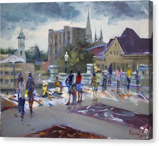 Winery Canvas Print - Sweet Chalk Festival In Lockport by Ylli Haruni