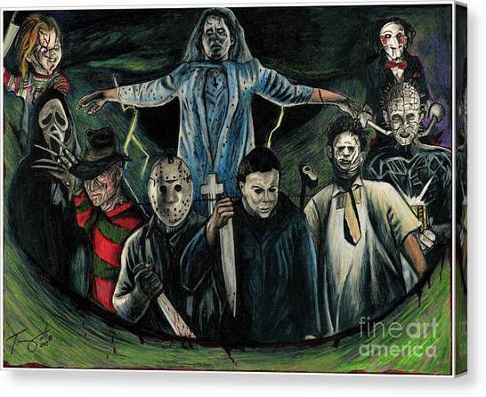 The Exorcist Canvas Print - Sweet Dreams Horror Collage by Tony Orcutt