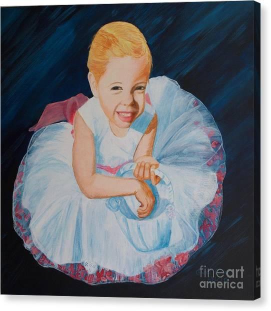 Sweet Flower Girl Canvas Print